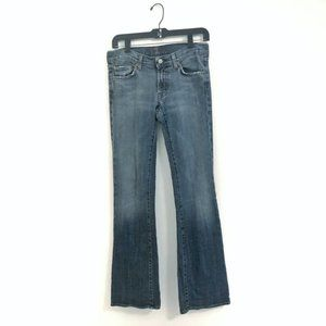 7 For All Mankind Bootcut Denim Jeans Size 28